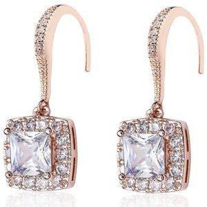 Swarovski Elements Rose Gold Crystal Earrings